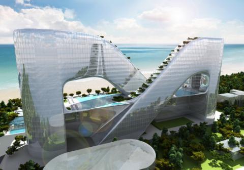 """Корейці показали проект готелю-""""нескінченність"""" для Олімпійських ігор-2018"""