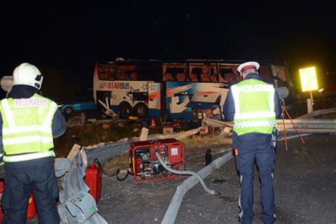 Під Віднем перекинувся український автобус: 11 постраждалих