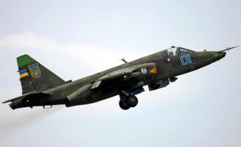 Український Су-25 розбився під Запоріжжям