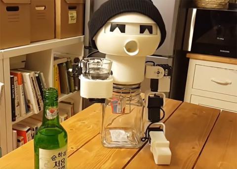 В Південній Кореї винайшли робота-випивоху