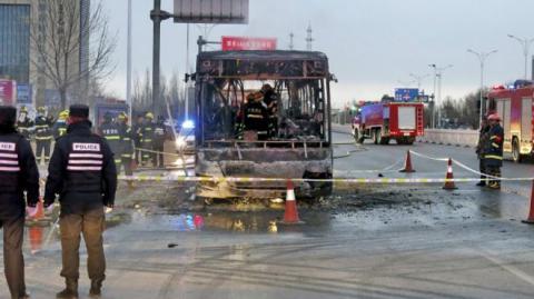 Через пожежу в автобусі, що сталася в КНР, загинули 14 людей