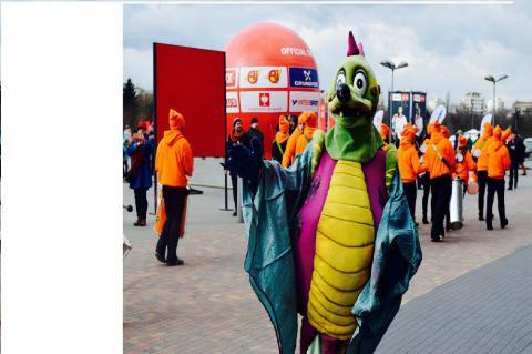 Євро-2016 у Кракові: Парад драконів (ФОТО) (ВІДЕО)