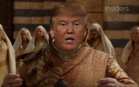 """Дональд Трамп у """"Грі престолів"""" (ВІДЕО)"""