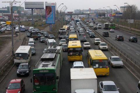У Києві пробки досягли 7 балів
