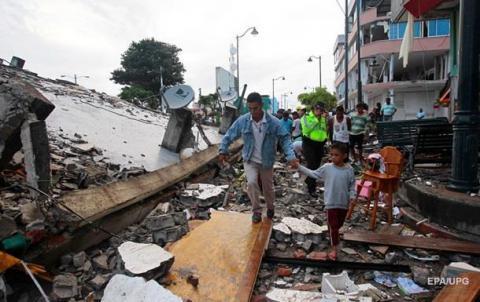 Після землетрусу в Еквадорі біля 500 осіб загинули та понад 2 тис. зникли