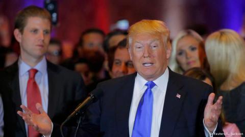 У п'ятьох північно-східних штатах США переміг республіканець Дональд Трамп