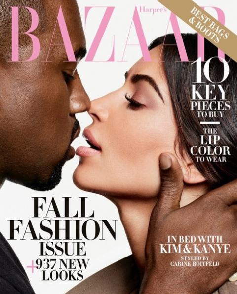 Кім Кардашьян разом із Каньє Вестом знялася у фотосесії для Harper's Bazaar (ФОТО)