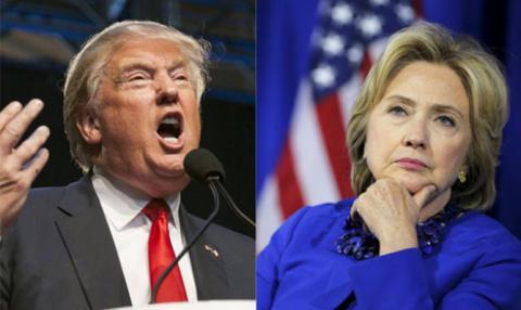 Різниця між Трампом і Клінтон становить десять відсотків