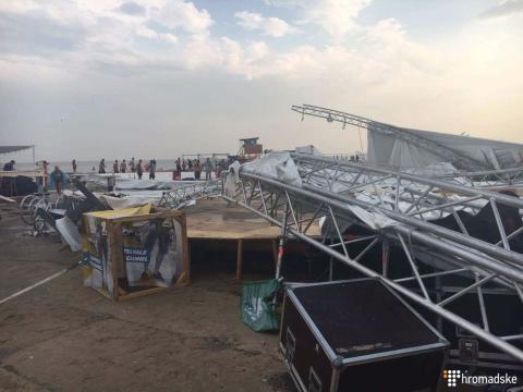 В Затоці блискавка вбила людину, а шторм зламав сцену фестивалю Z-Games