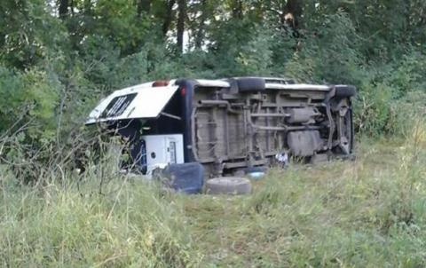 Автобус з паломниками перекинувся в Хмельницькій області