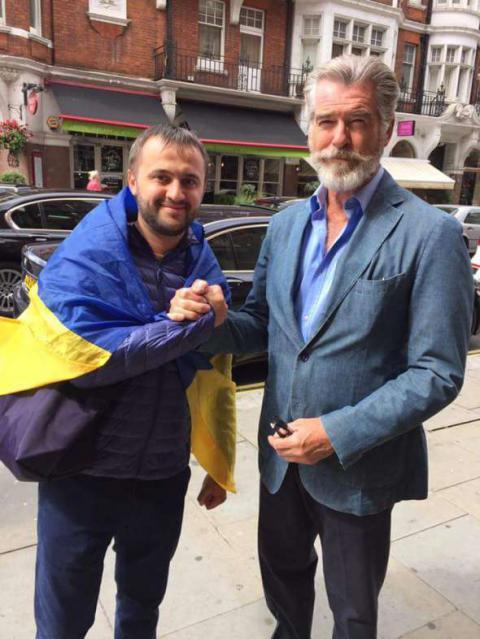 Пірс Броснан висловив своє захоплення Україною