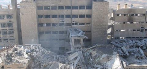 Росія скинула бомбу на госпіталь в Алеппо