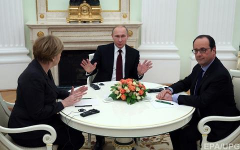 Меркель, Олланд і Путін провели короткі переговори по Сирії