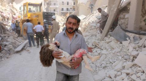 Втрати цивільного населення в Алеппо порівнянні з масштабом воєнного злочину