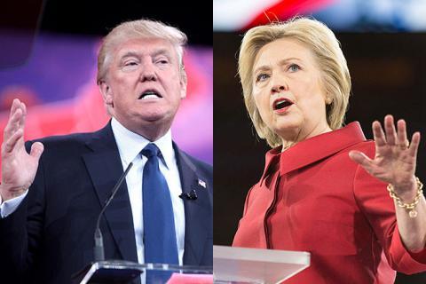 Трамп програє Клінтон 12%
