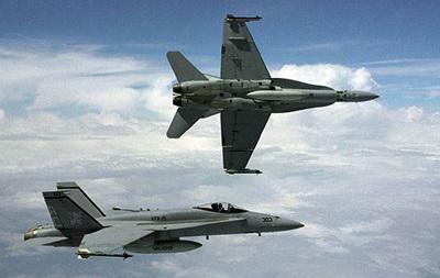 Над Тихим океаном зіткнулися два винищувачі ВМС США