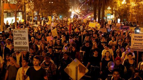 В США протестують проти обрання Трампа президентом