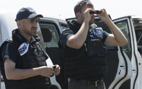 Спостерігачі ОБСЄ не змогли потрапити до Попасної через міни