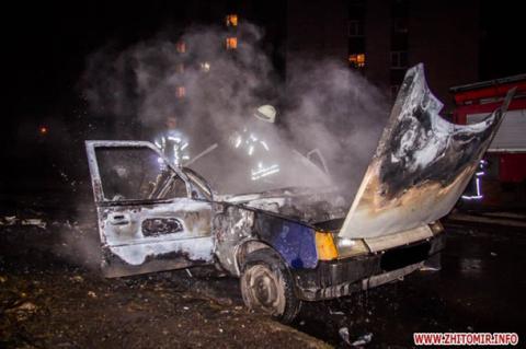 У Житомирі після заправки газом вибухнув автомобіль