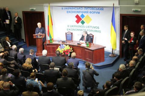 Президенти України та Литви виступили на українсько-литовському економічному форумі