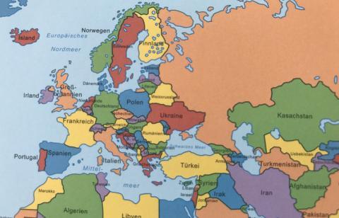 У Німеччині видано підручник з картою, на якій Крим зображений російським