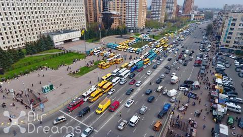 Журналісти  оцінили масштаб протестів водіїв маршруток в Києві (ФОТО)