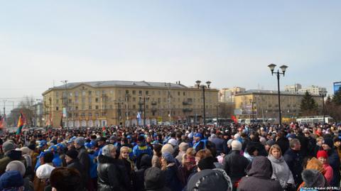 Російська влада організувала мітинги проти тероризму у Росії