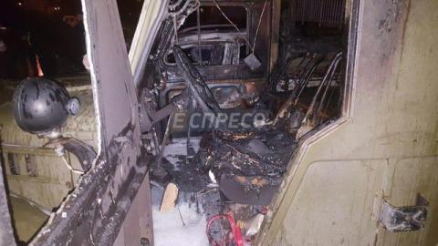У Києві загорівся автомобіль (ФОТО)