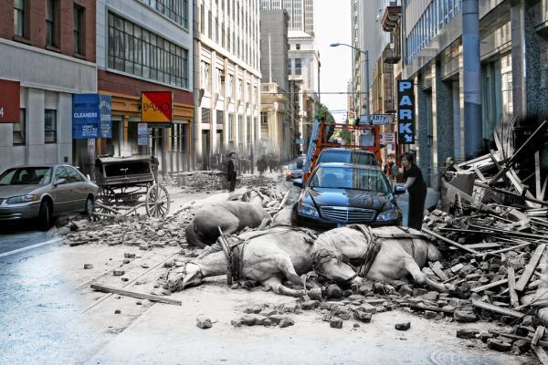 Сан-Франциско після руйнівного землетрусу 1906 року і сьогодні (ФОТО)