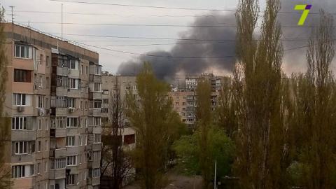 В Одесі запалав ринок (ФОТО+ВІДЕО)