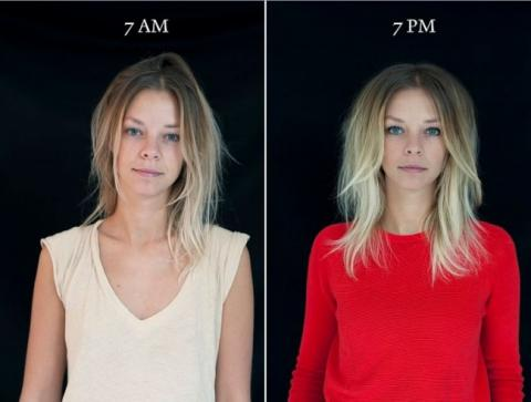 «7 ранку - 7 вечора»: як по-різному виглядає людина (ФОТО)