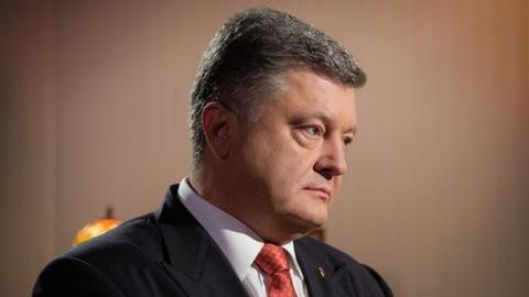 """Порошенко взяв участь в акції """"Перша хвилина миру"""""""