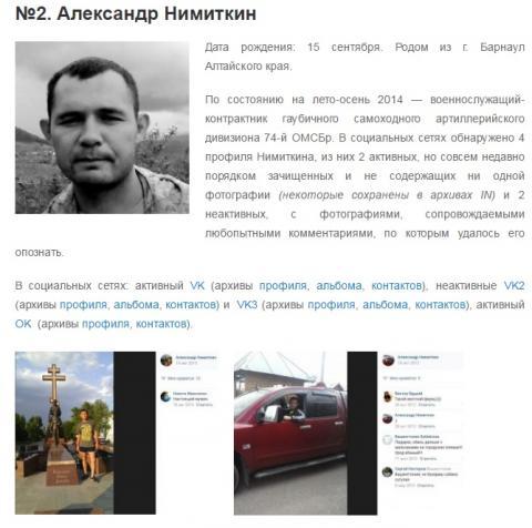 Волонтери розсекретили путінських артилеристів, які воювали на Донбасі (ФОТО)