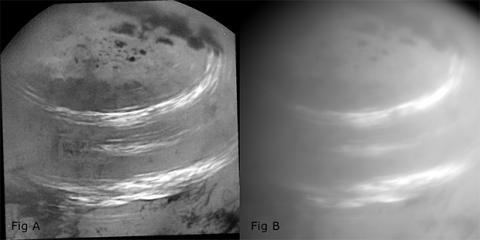 Метанові хмари Титана показали на знімках (ФОТО)