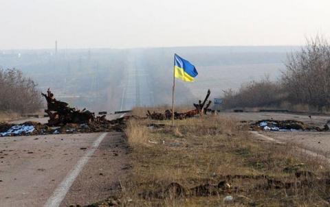 Бойовики вивісили між позиціями радянський прапор