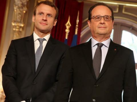 Олланд покинув резиденцію президента Франції після передачі влади Макрону