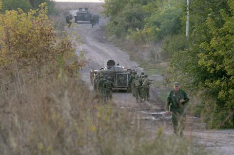 Сили АТО знищили позицію терористів у районі Світлодарської дуги