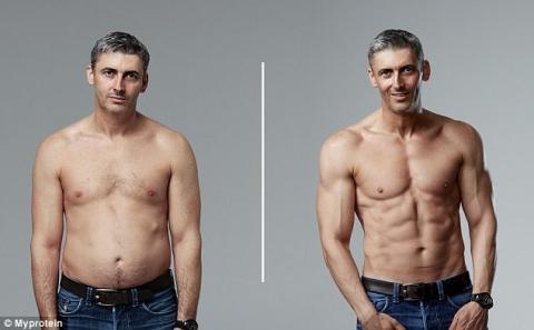 Британець набрав форму спортивного манекенника за три місяці