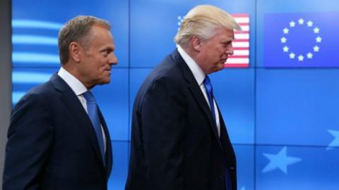 Трамп зустрівся з Туском: говорили про Україну