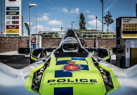 У Великобританії створили одномісний поліцейський суперкар (ФОТО)