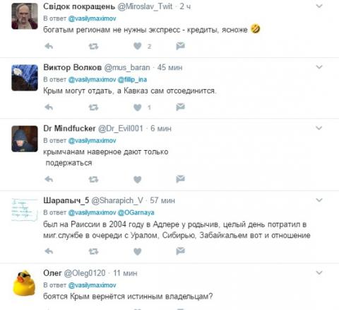 У російському оголошенні про кредити зазначено, що Крим належить Україні (ФОТО)