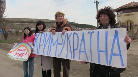 Кримчани вийшли на акцію протесту проти російського безладу