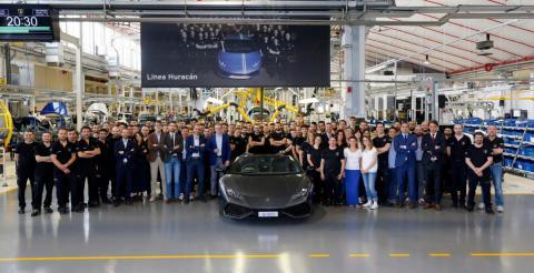 Компанія Lamborghini створила 8000-й екземпляр Huracan