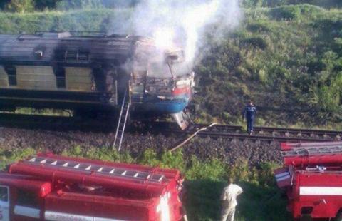 Пожежа в потягу: українці рятувалися від вогню