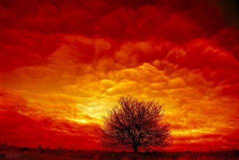 NASA розфарбує небо червоними і зеленими хмарами