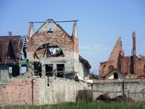 Селище Піски повністю зруйноване терористами (ФОТО)