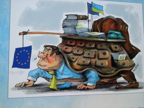 Карикатури: як Україна долала шлях до безвізу з країнами ЄС (ФОТО)