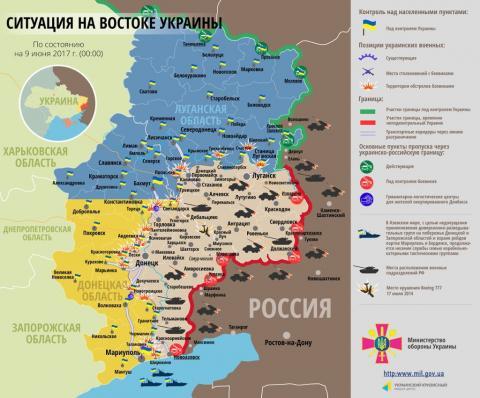Карта: як змінилася ситуація на Донбасі (ФОТО)