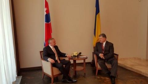 Президенти України та Словаччини спілкуються в закритому форматі