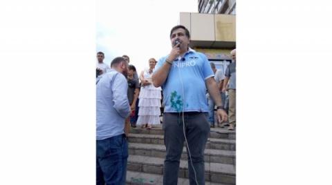В мережі з'явилося відео з Кривого Рогу: як зустріли Саакашвілі (ВІДЕО)